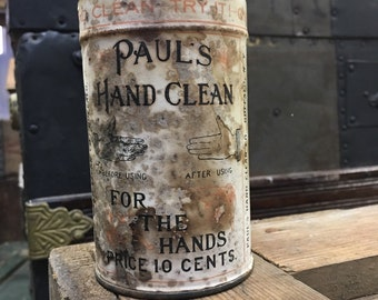 Pauls Hand Clean Tin - Tin Container - Tin advertising