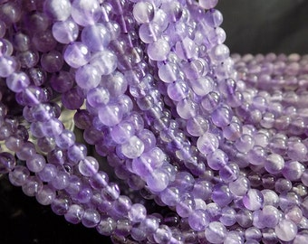 4-4.5mm Amethyst Round Beads,13 inches Full Strand, Semiprecious Beads Strand, Natural Beads, High Quility Handmade Stones