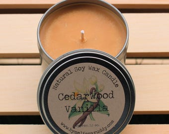 Cedarwood Vanilla Soy Wax Candle