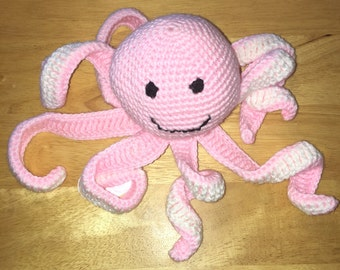Pink stuffed Octopus