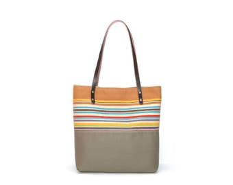Fall Market Bag - Khaki Cotton Tote Bag - Autumn Cotton Tote Bag - Bright Cotton Tote Bag - Tote Bag for Fall - Beige Tote Handbag