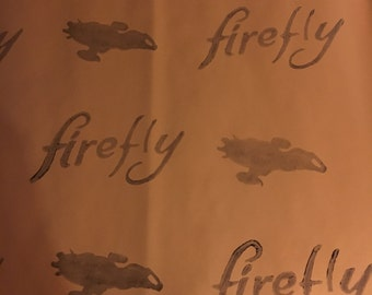 Firefly / Serenity / Browncoat Foil Wrapping paper 15 Sq Ft 2 1/2 feet x 2 yards