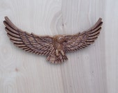 Eagle Wood Carving, Woode...