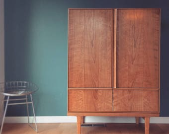 Wardrobe Armoire - Chest of Dresser - Buffet Cabinet- Danish Mid Century Modern - Cherry or walnut - Media console