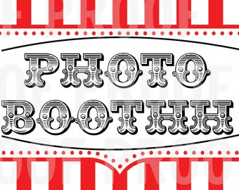 Carnival Photo Booth Sign (Digital)