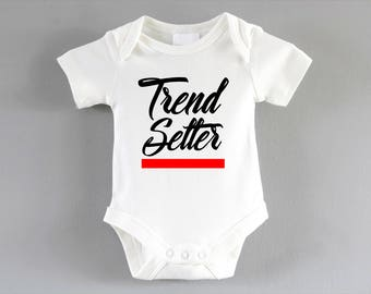 Trend Setter Onesie ~ New baby unisex gift ~ pregnancy announcement party ~ baby shower gift ~ cool baby clothes ~ babygrow ~ bodysuit