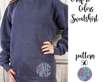 Comfort Colors Sweatshirt with Monogram