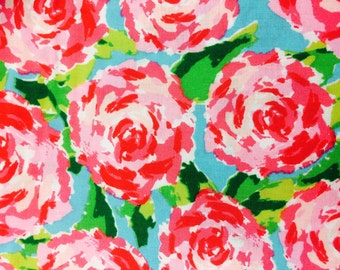Rosie Posie Pink Floral Fabric -100% Cotton Quilting Apparel Crafts Home decor
