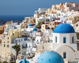 Greek Islands Photography - The Famous Blue Domes in Oia, Santorini