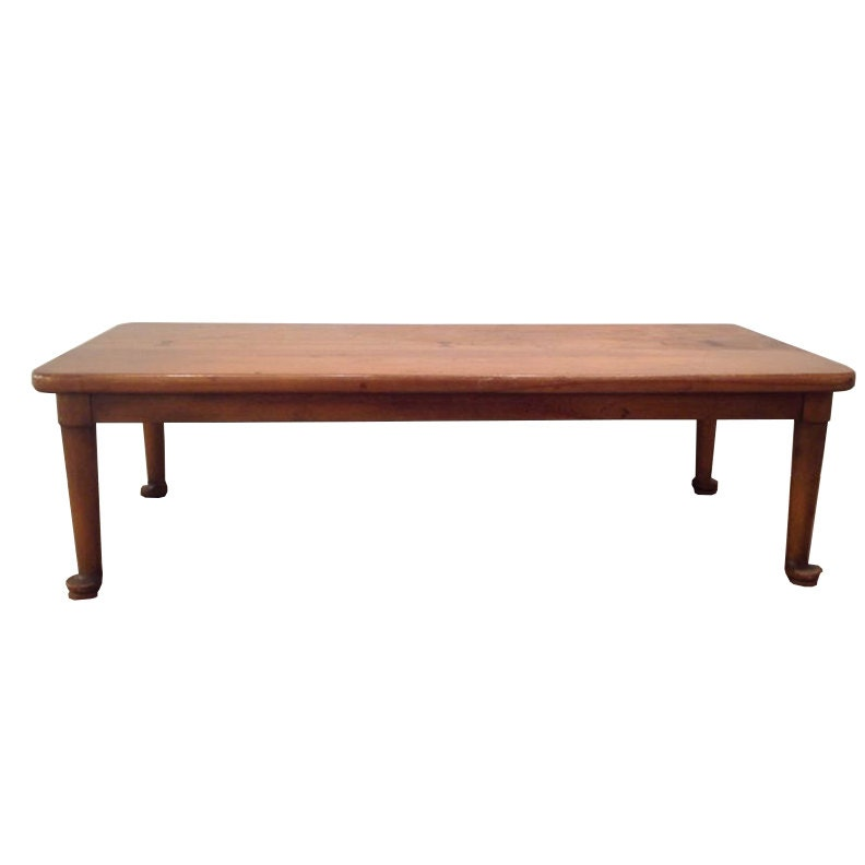 Barnard & Simonds Co. Primitive Low Wood Coffee Table Antique