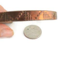 Vintage Copper Bracelet / Cuff Bracelet / Copper Jewelry / Solid Copper / Hand Made Bracelet / Copper Items  / Copper Decor