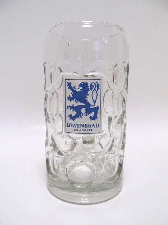 Vintage 1971 Oktoberfest Stein Lowenbrau Munich Beer Mug