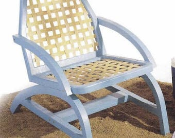 Woven Wood Deck Chair Woodworking Plans