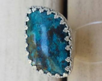 Large chrysacola ring