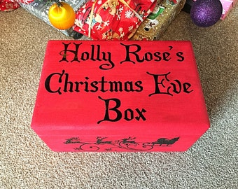 Christmas Eve Box, Personalised Christmas Eve Box, Storage Box, Children's Box, Personalised Crate,