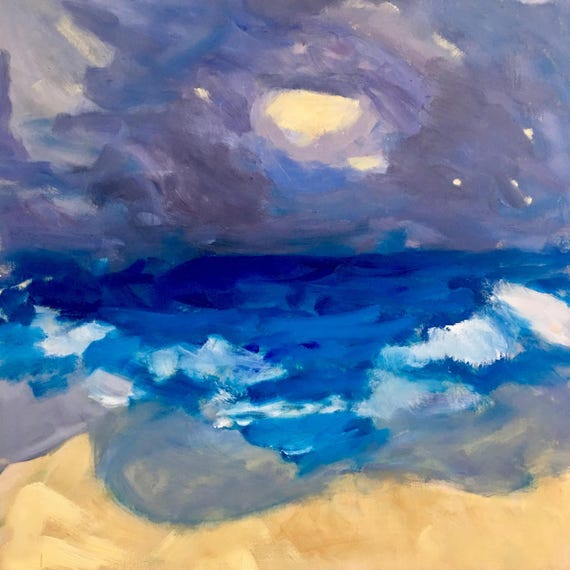"Tropical Storm: Original oil painting, 24"" x24"""