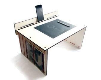 Wood bed desk,standing desk,portable workstation,sofa workstation,couch lap desk,laptop desk,bed workstation,portable desk,laptop bed table