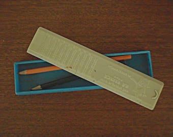 Vintage Israeli pencil box , Dan Chaschan 1968 Bank Hapoalim .vintage pencil box , Israeli vintage pencil case .