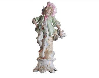 Galluba & Hoffman Bisque Porcelain Maiden Figurine Ilmenau, Germany c. 1897-1910