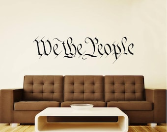 "Preamble ""We The People"" Constitution Vinyl Wall Decal Sticker Graphic"