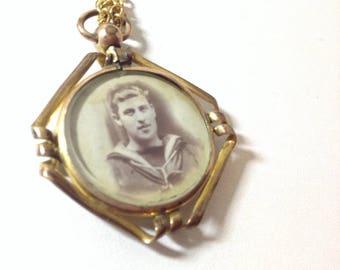 Edwardian photo pendant locket
