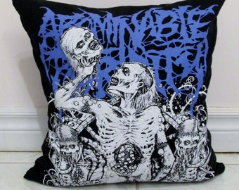Abominable Putridity Pillow DIY Death Metal Decor (Cover Only; Insert Available)