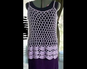 Plus Sizes - Crochet Cami Top - Crochet Floral Cami - Open crochet, lacy - many colors