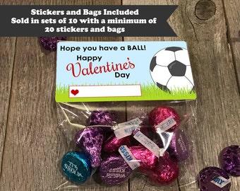 soccer ball valentine treat bags soccer valentines valentine treat bags school valentines - Soccer Valentine Box