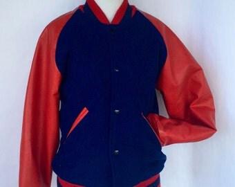 90's Rare National Cheerleaders Association All American Jacket - Letterman Jacket/ Cheerleading Jacket --Size Small