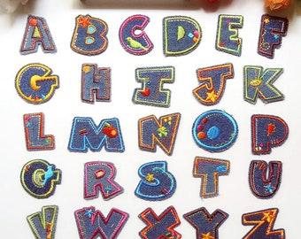 Letter embroidered patch applique clothing decoration patch applique