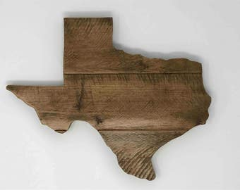 Texas State - Hardwood Sign - Made out of Reclaimed Hardwood