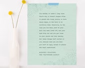 Velveteen Rabbit quote print, you become, wall decor, Margery Williams quote poster, gifts for her, quote poster