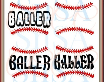 Baseball SVG Baller No Crying Ball Team Love Life  Mom Dad Sister Brother Coach Birthday Day Easter Cheer Dance Shirt Cup 2017 Sign Decal.
