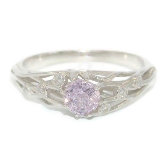 Pink sapphire and diamond ring you are under my skin one of for Wedding rings under 150