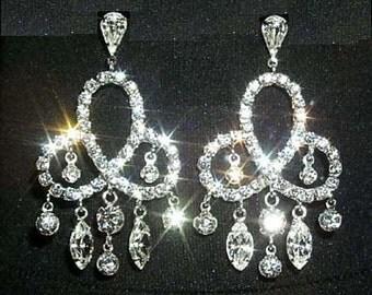 Style # 12326 Elegant Pretzel Drop Chandelier Earring