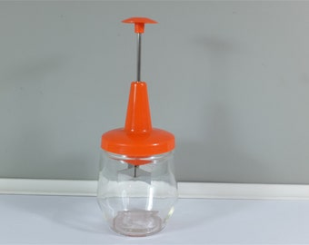 Vintage orange Androck vegetable chopper -  vintage glass chopper  - Retro Androck - Made in Canada