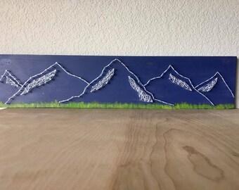 Mountain Range String Art, Mountain Art, Mountain Decor, Mountain Range, Mountain decal, Rocky Mountains, Colorado Mountains, Colorado Sign