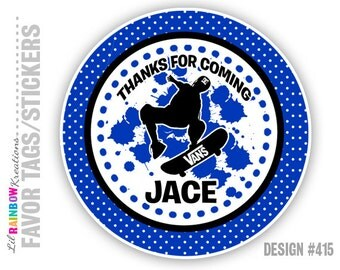 FVTAGS3-415: DIY - Skateboarding Favor Tags Or Stickers