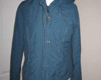 SALE! Vintage Mantaray Windbraker Aqua Green Jacket S M