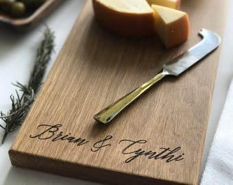 Cheese Board, Charcuterie Board, Personalized Cutting Board, Custom Name, Wedding Gift, Engagement Gift, Anniversary, Personalized Womens
