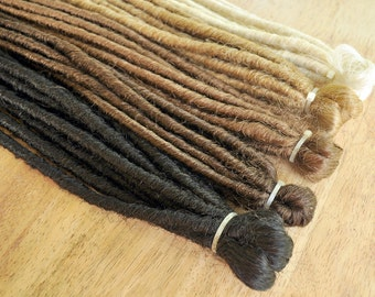 80 x Double Ended Dreadlocks (40 Extensions, 80 Dreads when folded) 50cm / 20inches long, 10mm thin