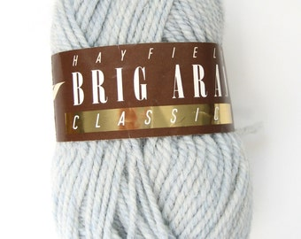 Destashed yarn, Pure wool, light gray, heavy worsted, Aran weight, Hayfield Brig, discontinued, knitting yarn, crochet yarn, crafting yarn