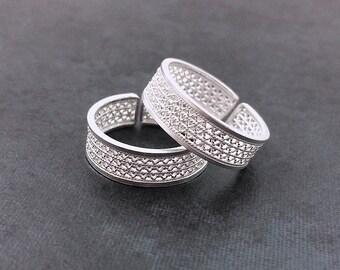 Handmade Silver Filigree Adjustable Ring Delicate