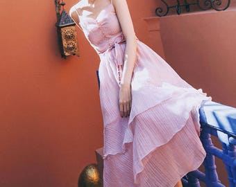 L'amant Collection pink trip to Istanbol pink top skirt
