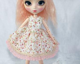 "Dress and petticoat Pullip Obitsu model ""Liberty lace"""