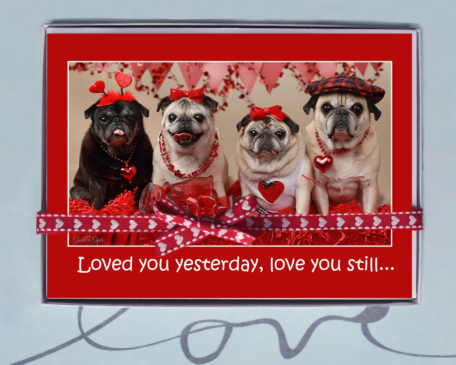BOX OF 10 5X7 CARDS Love You Always  Funny Valentines Day Card
