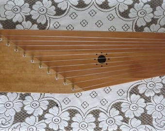 Eleven String Kantele / Kokle - Cherry and Western Red Cedar