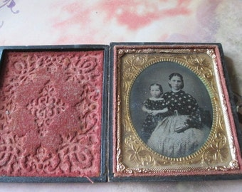 Daguerreotype Mother and child