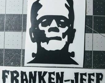 Franken Jeep Vinyl Decal