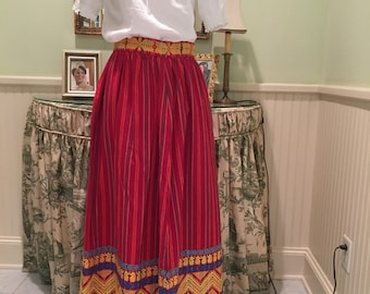 Vintage mexican embrodered 60s maxi skirt